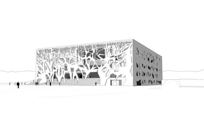 Public Centre Grottemmare, Italy (Architect Bernard Tschumi)